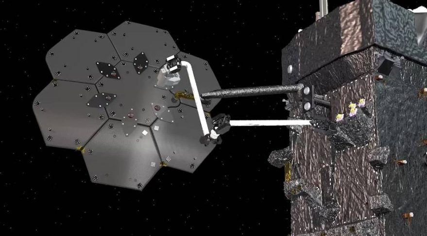 Robots will build an antenna in space