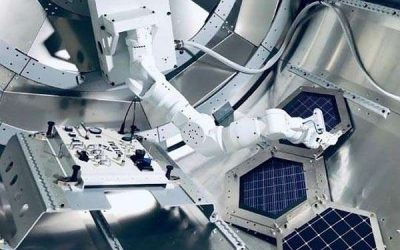 Robots inside space stations: astronaut helpers and maintainers